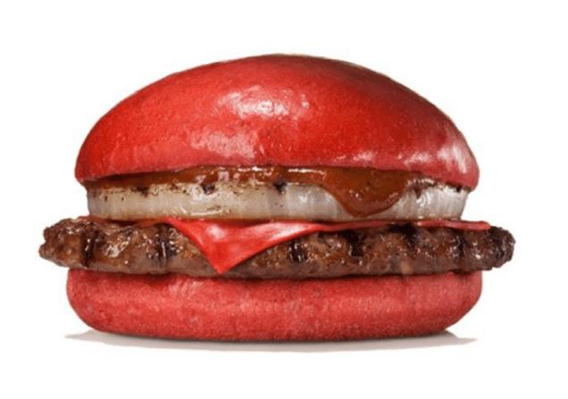Japanese Burger King Has Red Cheeseburgers