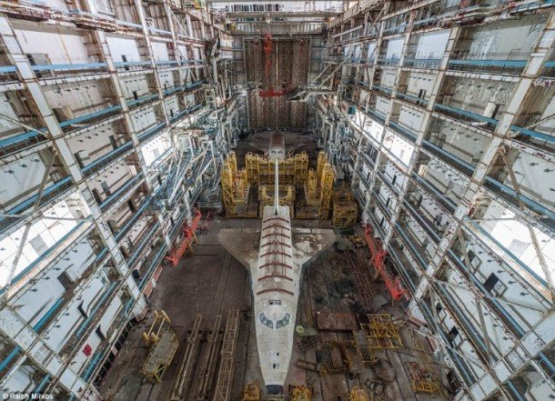 Russian Space Agency's Abandoned Shuttle Hangers