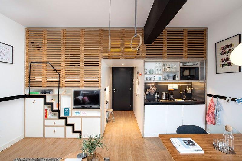 Clever Hotel Room Loft Designed For Global Nomads (4)
