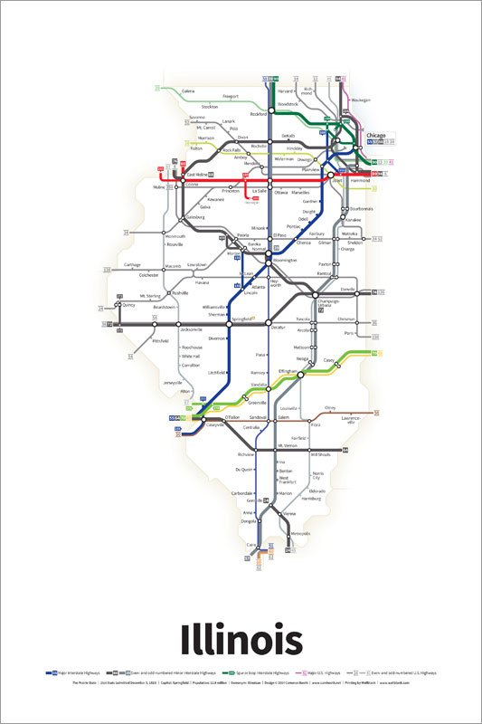 Every US Highway Drawn Like A Transit Map - Us highway 2 map