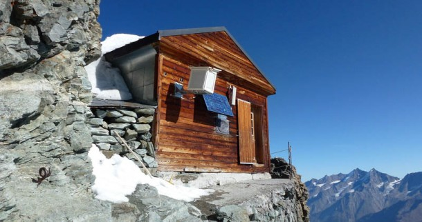 Awesome Hut Near The Summit of Matterhorn