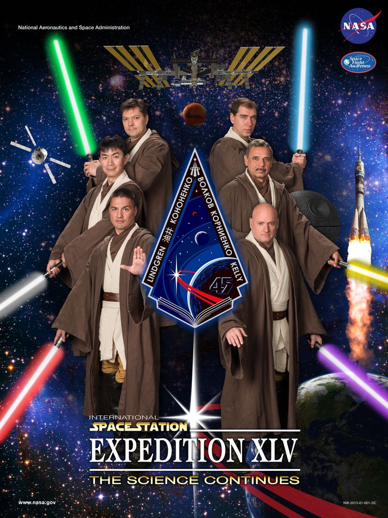 Astronauts Dressed Like Jedi For Their Official Portrait