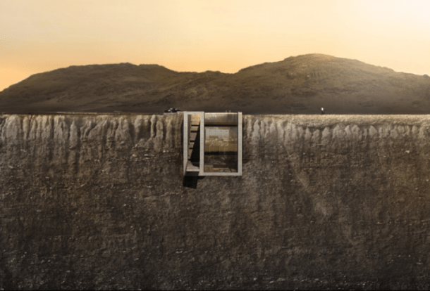 Concept House Built Into The Cliff
