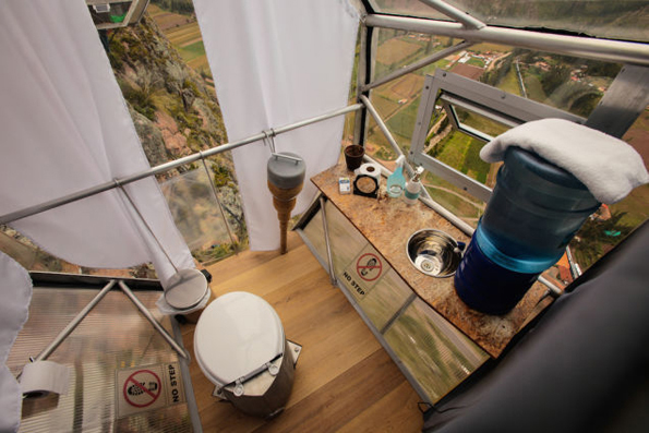 Glass Hotel Room Hanging Off The Side Of A Cliff
