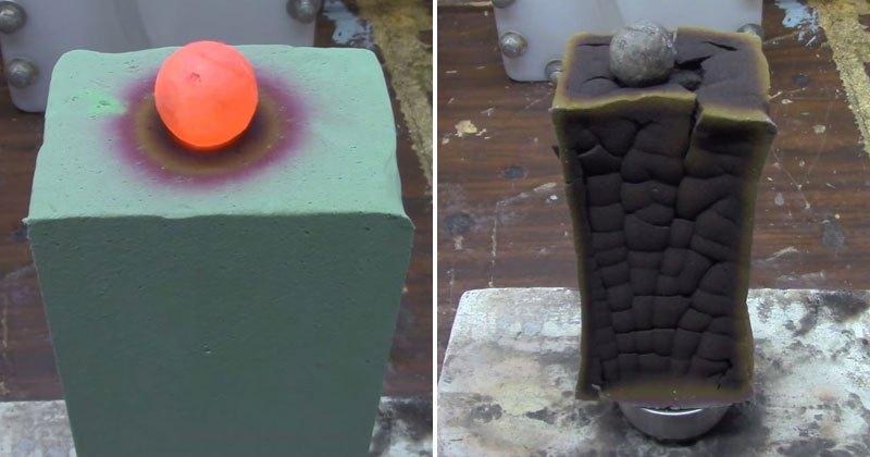 Red Hot Nickel Ball vs FloralFoam