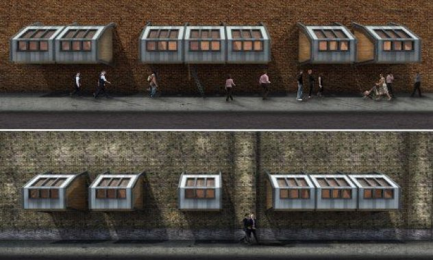British Architect Designed Sleeping Pods For The Homeless In London