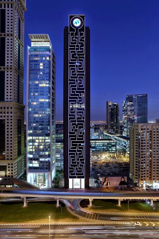 Maze Tower In Dubai Has The World's Largest Vertical Maze On It's Exterior