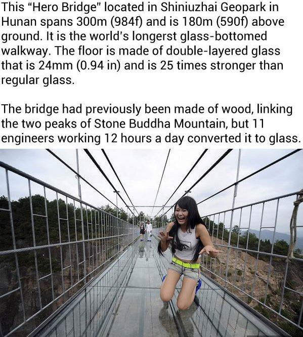 The World's Longest Glass Bridge In China