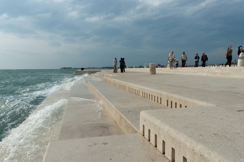 Sea Organ Played by Waves