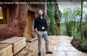 Modern House Costing $230,000 Built Into a 700-Year-Old Sandstone Cave