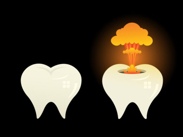 exploding teeth