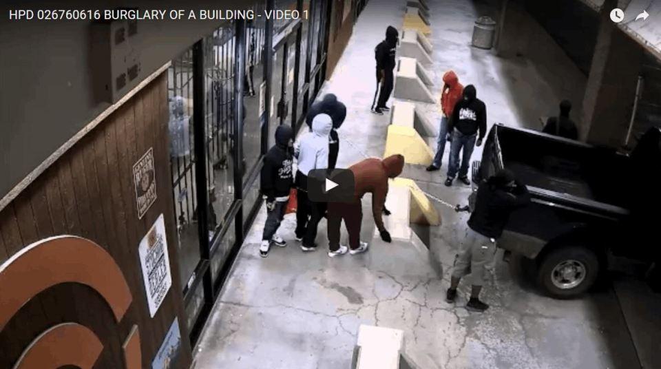 Thieves Ransacking a Gun Store, Took Dozens of Guns