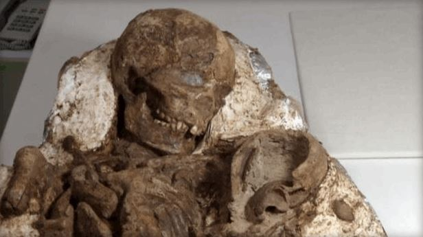 Mother Cradling Baby, 4,800-Year-Old Fossil Discovered