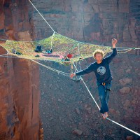 Hammock In Grand Canyon Is Suspended 400ft Between Two Cliffs