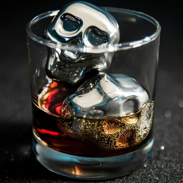 Skull Stainless Steel Ice Cubes