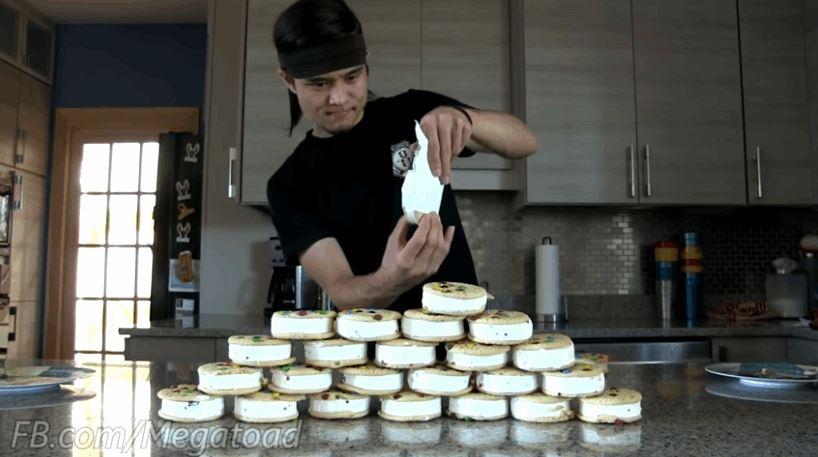 M&M Ice Cream Sandwiches