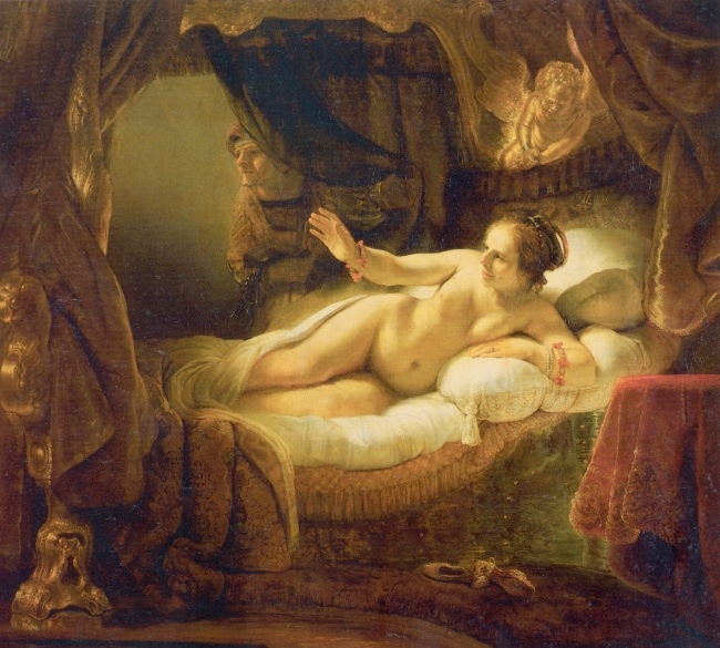 The face of Rembrandt's Danaë