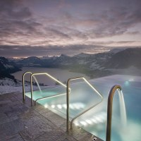 Incredible Rooftop Infinity Pool in the Swiss Alps is Called The Stairway to Heaven