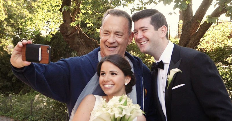 Tom Hanks Crashes Wedding Shoot in Central Park