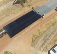 Road Being Paved Efficiently
