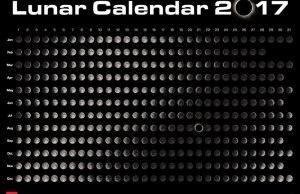 Moon Calendar for 2017