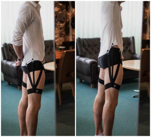 Keep Your Shirt Tucked In With This Silly Looking Shirt Garter Belt