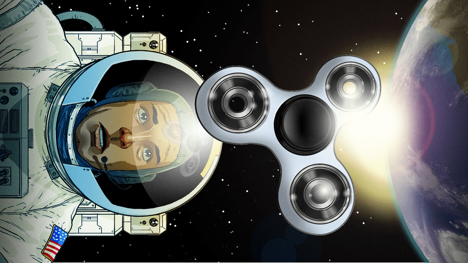 Would These Fidget Spinners Just Spin Forever And Ever in Weightlessness?