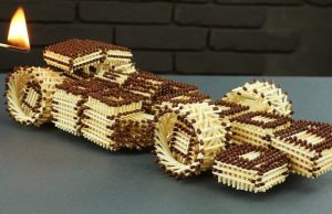 F1 Racing Car Made With Matches