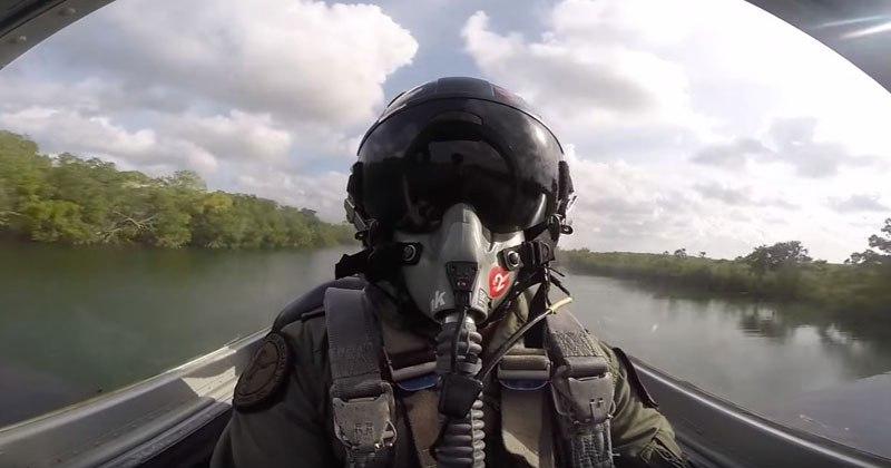 Cockpit POV of Low Altitude Flying
