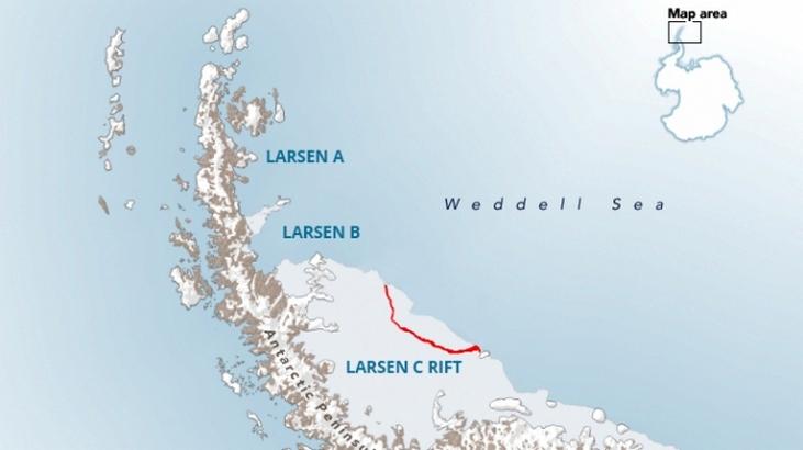 Iceberg Breaks Off from Antarctica