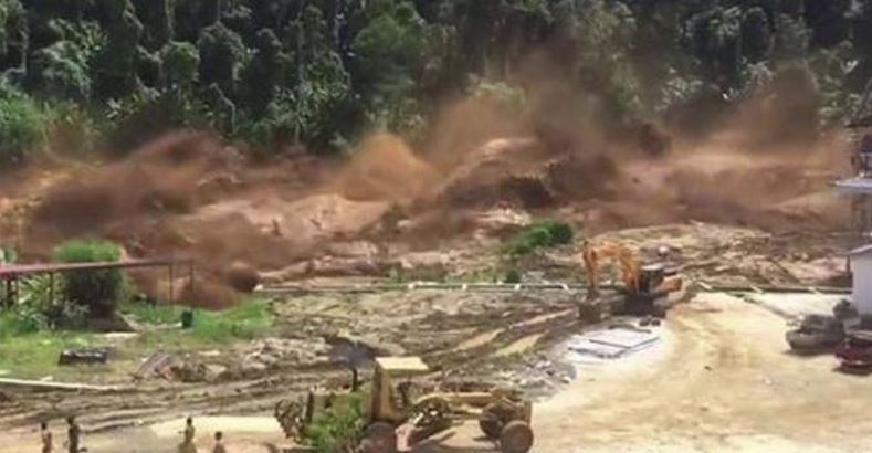 Terrifying Video Shows Workers Running For Their Lives After Dam Collapsed