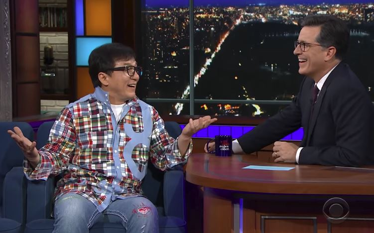 Stephen Colbert: Jackie Chan Has Done Everything But 'Mamma Mia!'