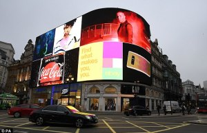 iconic billboard at London'sPiccadilly Circus