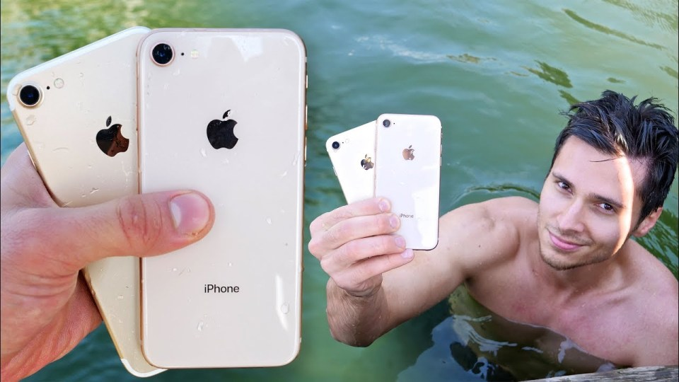 iPhone 8 vs 7 Water Test!