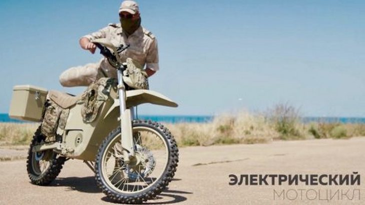 Kalashnikov Developed An Electric Motorbike For The Russian Military - Video