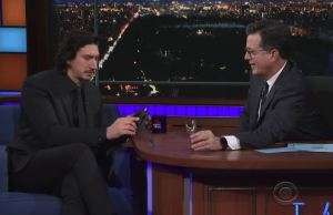 Stephen Colbert ANd Adam Driver