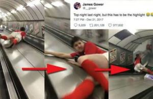 Slide Down London Tube Escalator