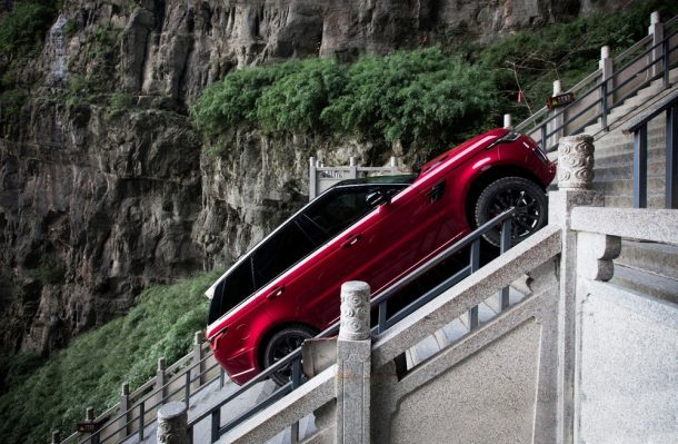 Watch The Video Of New Range Rover Drive 999 Steps At 45° Incline