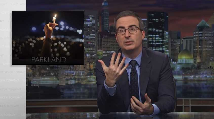 John Oliver Talks About Parkland School Shooting
