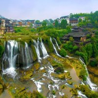 This 'Waterfall City' in China Looks Like a Fairyland