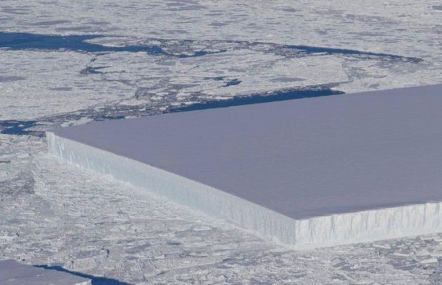 Rectangular Iceberg In Antarctica