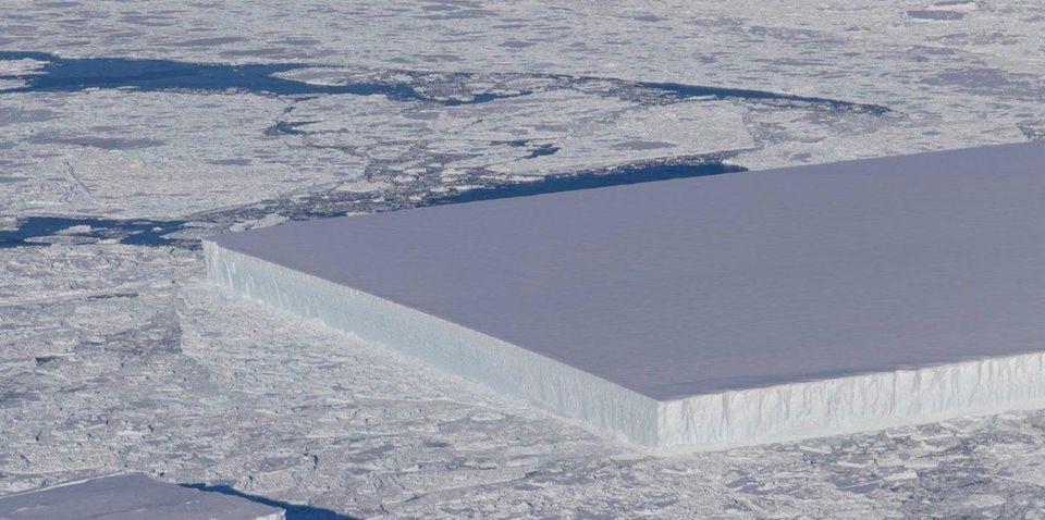 Rectangular Iceberg In Antarctica