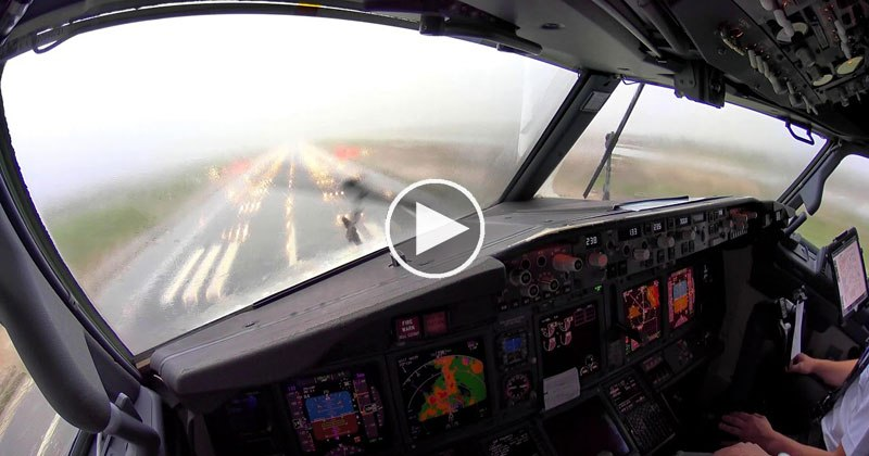 Landing in an Extreme Thunderstorm