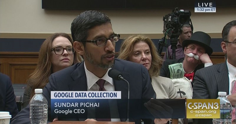The Monopoly Man Showed Up At Google's Congressional Hearing Today