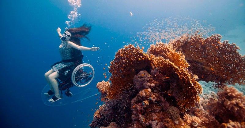 Underwater Wheelchair