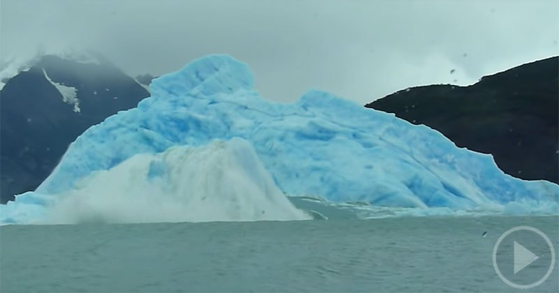 Watch The Gigantic Iceberg Flipping Over