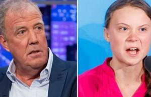 Jeremy Clarkson and Greta Thunberg