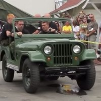Unit of Canadian Army Takes Apart Jeep in 90 Seconds