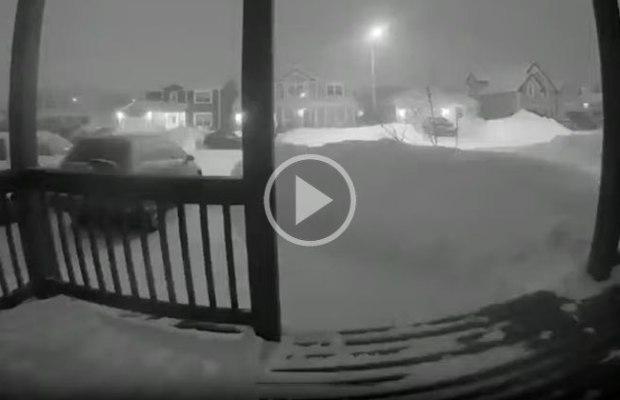 Snowfall in Newfoundland