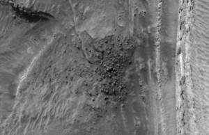 'Field of Ice Blocks' Collapsing on Mars